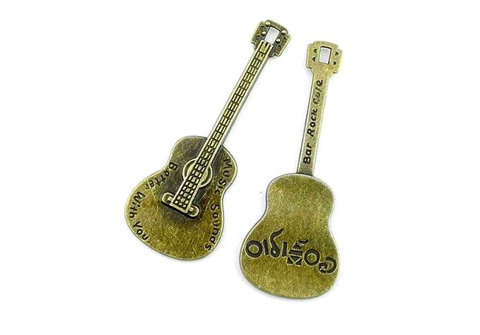 Abalorio para hacer joyas WFTE0 colgante de guitarra antiguo de ...