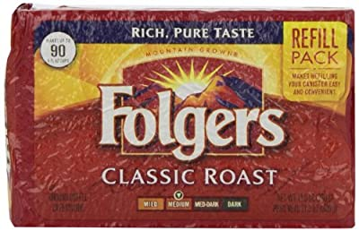 Folgers Classic Roast Coffee Brick, 11.3 Ounce (Pack of 12)