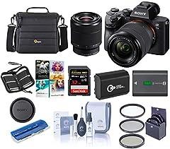 What's in the box:                       Sony Alpha a7 III 24MP UHD 4K Mirrorless Digital Camera         FE 28-70mm f/3.5-5.6 OSS Lens (SEL2870)         AC-UUD12 AC Adapter         Accessory Shoe Cap         Body Cap         E...