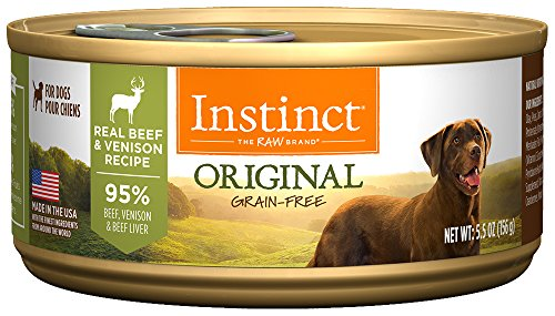 Instinct Original Grain Free Real Beef & Venison Recipe Natural Wet Canned Dog Food by Nature's Variety, 5.5 oz. Cans (Case of 12) - All Natural Canned Dog Food