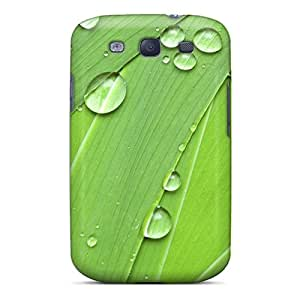 For PaulScotn Galaxy Protective Case, High Quality For Galaxy S3 Drops On Leaves Skin Case Cover