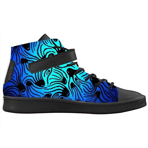 Caviglia Personalizzato Traspirante Alla Con Donna Round Alte Nero E Scarpe Colletto Design Lyra Polpo Creativo Cheese Sneakers Toe TWPvqq