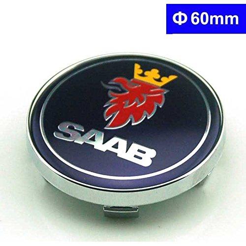 BENZEE 4pcs W192 60mm Car Styling Accessories Emblem Badge Sticker Wheel Hub Caps Centre Cover SAAB Vector Linear Aero