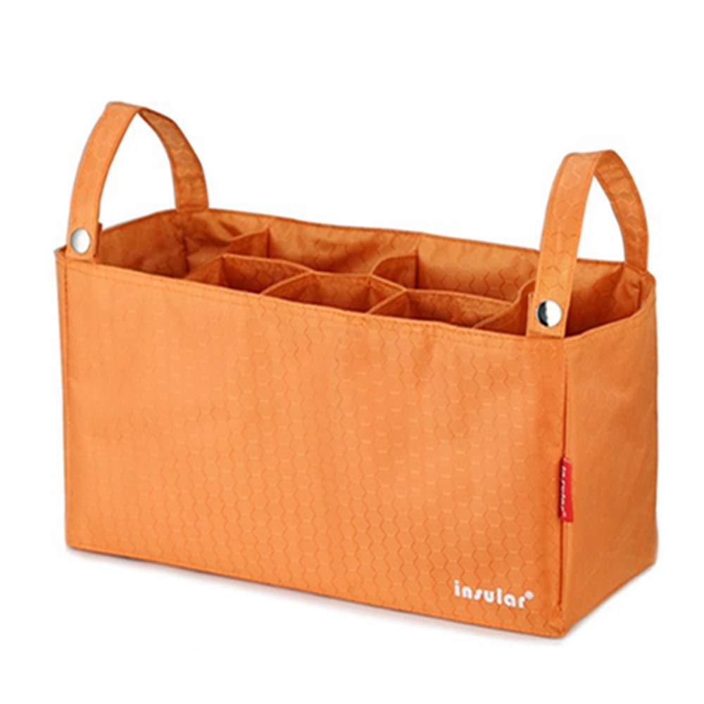 QIQI Mummy Bag, Kindergarten and Child Liner Pack Waterproof Multi-Function Baby Stroller Bag,Orange