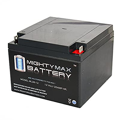 ML26-12 12V 26AH SEALED 12 VOLT DEEP - CYCLE RECHARGEABLE BATTERY - Mighty Max Battery brand product