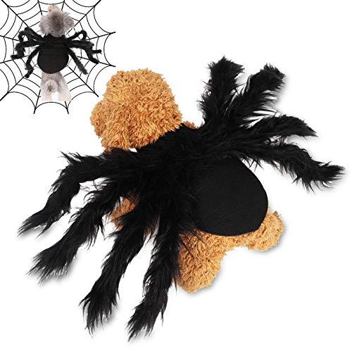 BERNICEKELLY 할로윈 애완 동물은 거미의 의상을 위한 개와 고양이 애완 동물 스파이더 하니스 의상 시뮬레이션 할로윈 거미 애완동물의 코스프레 의상 드레스 의상 액세서리