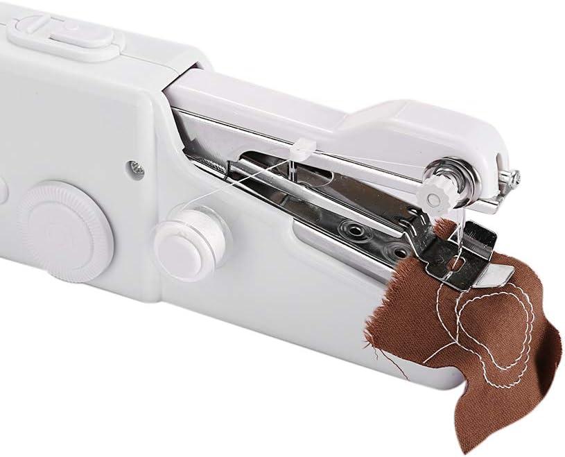 Máquina de coser de mano Vssictor, Stitch Sew Quick portátil, mini máquina de coser manual, Quick Handy Stitch para tela, ropa, toalla de niños, en casa de viaje
