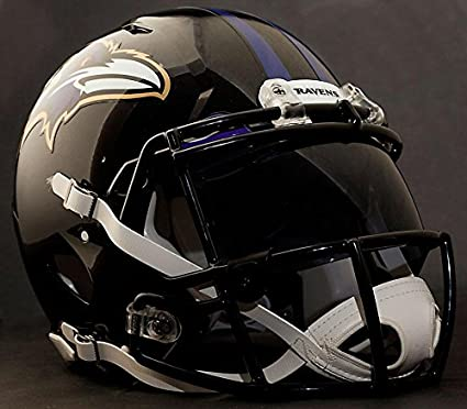 24784cab1e0 Image Unavailable. Image not available for. Color  Riddell Speed Baltimore  Ravens NFL Replica Football Helmet ...