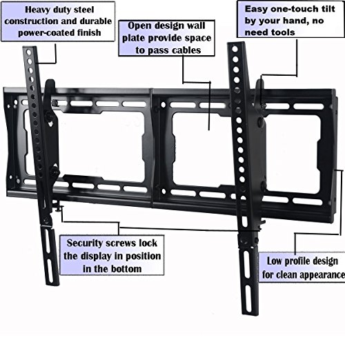 videosecu mounts tilt tv wall mount bracket for most 23 75 import it all. Black Bedroom Furniture Sets. Home Design Ideas