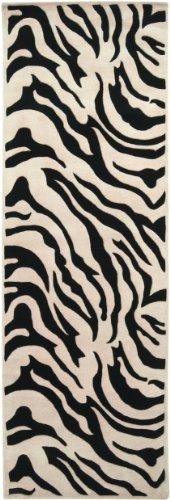 Surya Goa G-59 Contemporary Hand Tufted 100% New Zealand Wool Ivory 2'6'' x 8' Animal Runner by Surya