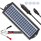 POWISER 3.5W Solar Battery Charger 12V Solar Powered Battery maintainer & Charger,Suitable