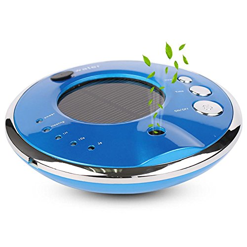 CZKQJHQ Car Air Purifier, Humidifier And Aroma Diffuser, Solar Or USB Charging , blue by Car air purifier