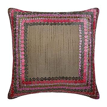 Amazon.com: Hecho a mano decorativos almohadas, color rosa ...