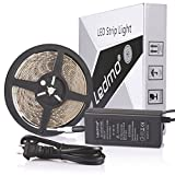 (US) LEDMO Waterproof SMD 5630 Flexible 300 LED Strip Lights Kit with 12V/5A Adapter, Cool White, 16.4-Feet / 5m