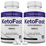 (2 Pack) Keto Fast Pills, Keto Fast 700 mg Capsules - Pure Keto Fast Supplement for Energy - BHB Ultra Boost Exogenous…