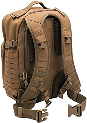 LA Police Gear Atlas 12 Hour Ultra-Tough 900D Polyester with PVC Coating Laser Cut MOLLE Webbed Mil-Spec Fabric Tactical Backpack