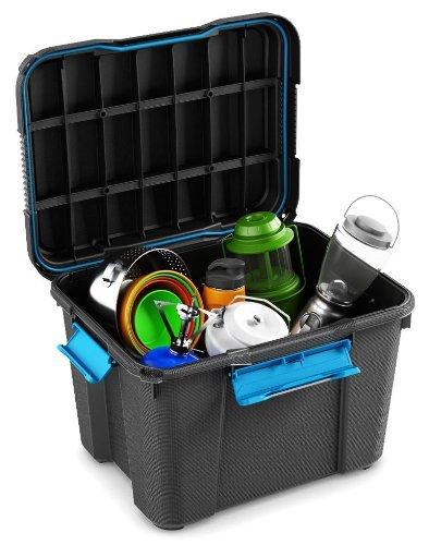 El buceo Buceador de buceo caja de plástico caja almacenaje negro Loft de – 45 litros