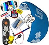 HQ HQ4 Rush V Pro 300 Kiteboarding Trainer Kite CXS Bundle : (5 Items) Includes 2ND Kite : CX 1.5M Foil Control Strap Kite + WindBone Kiteboarding Lifestyle Decals + WBK Koozy Cooler + Key Chain