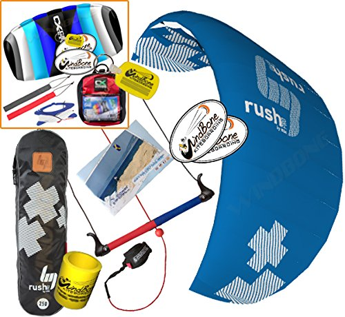- HQ HQ4 Rush V Pro 300 Kiteboarding Trainer Kite CXS Bundle : (5 Items) Includes 2ND Kite : CX 1.5M Foil Control Strap Kite + WindBone Kiteboarding Lifestyle Decals + WBK Koozy Cooler + Key Chain