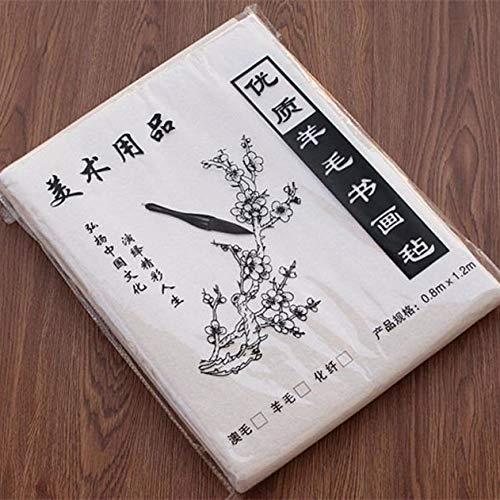 - FJ118 Hmayart White Felt Mat for Sumi-e Painting & Ink Calligraphy 120 x 80 cm (47 x 31.5 inch)