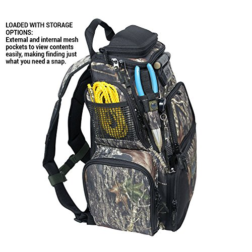 084298636042 - Wild River Tackle Tek Nomad Mossy Oak Camo LED Lighted Backpack, Fishing Bag, Hunting Backpack carousel main 6