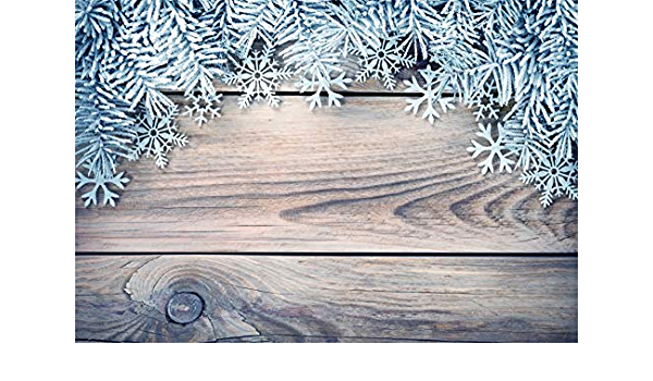 AOFOTO 10x10ft Winter Backdrop Pine Boughs Snowflakes Decorated Green Board Photography Background Baby Shower Kids Children Happy Birthday Pet Product Portrait Shooting Vinyl Photo Booth Prop
