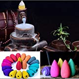 Euone Flowing Incense Clearance , 40pcs Smoke Tower Cone Bullet Backflow Incense Hollow Cones Lavender Best Pop