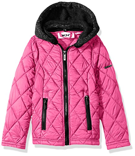 DKNY Big Girls' Fashion Outerwear Jacket (More Styles Available), Packable-DK55-Pink, 14/16