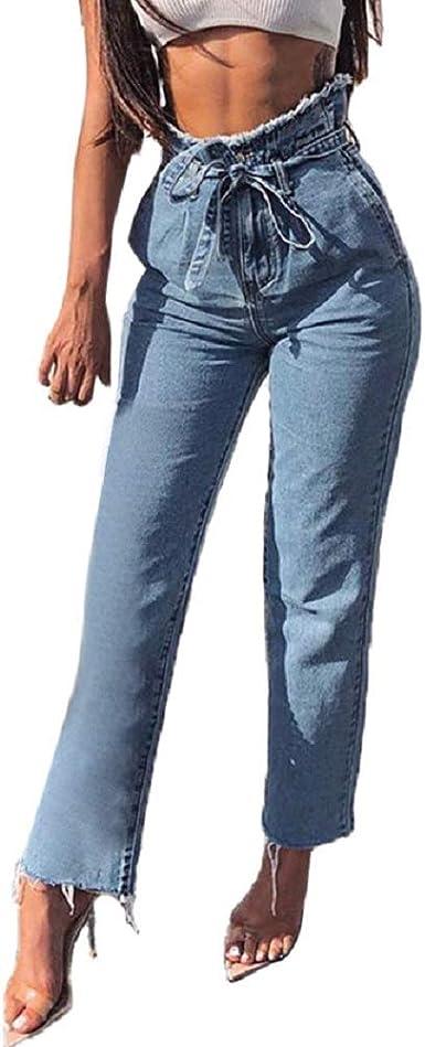 Pantalones Mujer Vaqueros Strir Mujer Casual Pantalones Chinos Elasticos Elastica Boyfriend Jogger Pants Amazon Es Ropa Y Accesorios