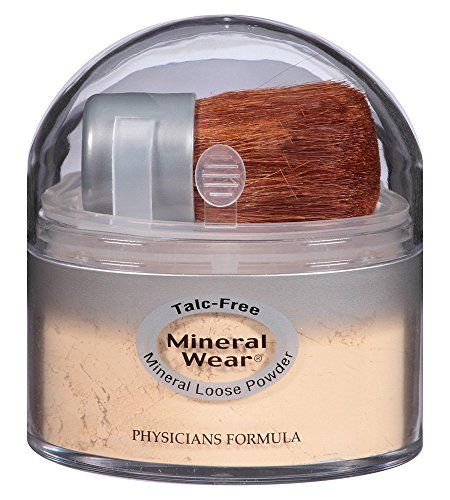 Physicians Formula Mineral Wear Talc-Free Loose Powder, Translucent Light, 0.49 Ounce (Mineral Face Powder)