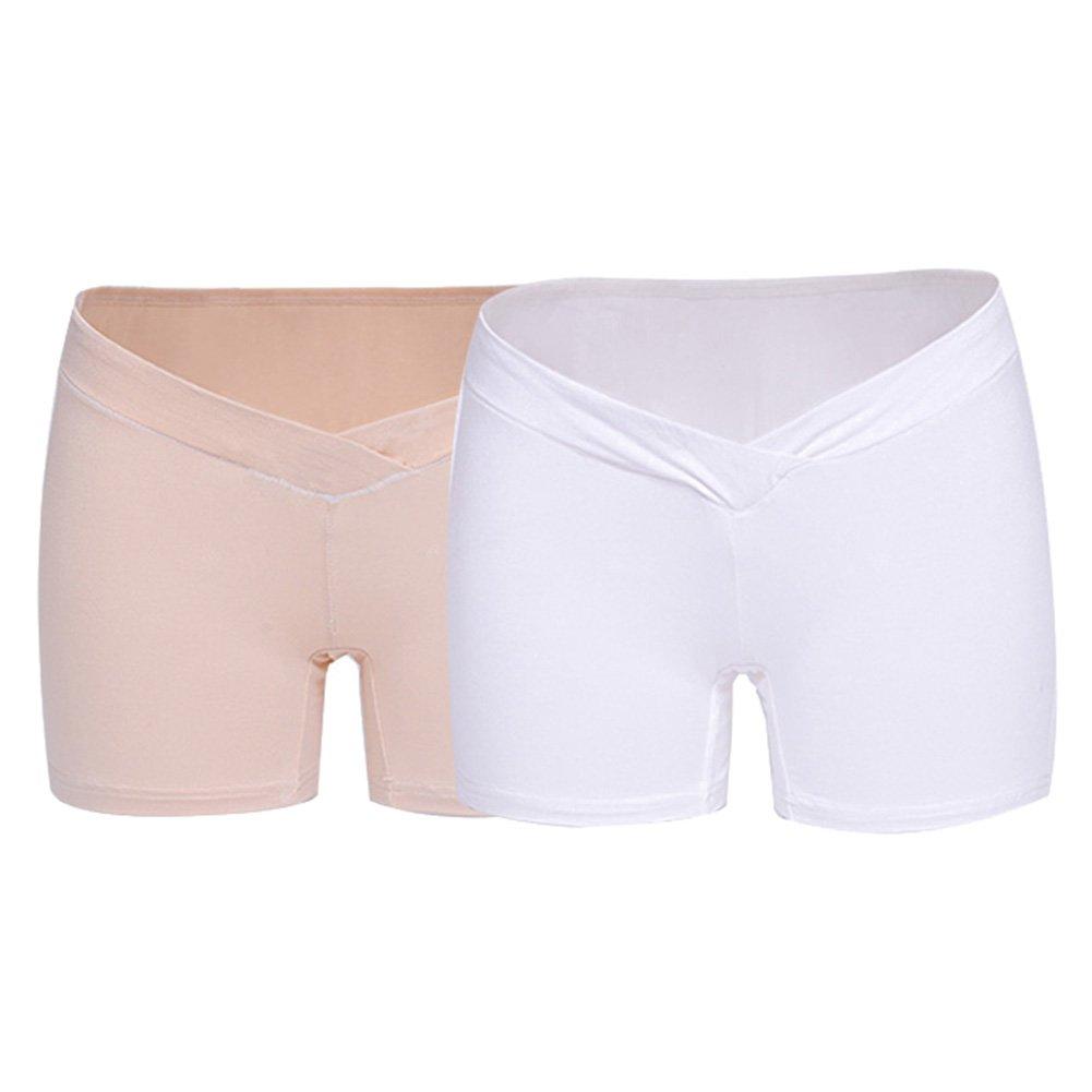 Deylay Pack of 2 Pregnant Low Waist Underwear Shorts Comfortable Modal Cotton Maternity Panties N170329UN-D