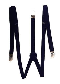 Blue Banana réglable Noir Élastique Unisexe Clip Sur Bretelles//Bretelles