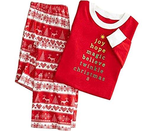 Deer Long Sleeve Sleepwear Stripe Pants Family Matching Christmas Pajamas Sets (Cp Xxx Set)