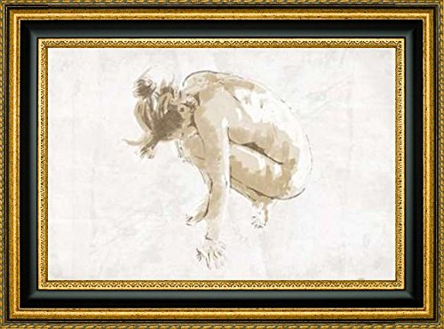 """Framed Canvas Print Wall Art Nude Pose Mate by OnRei - 8"""" x 12"""" Ready to Hang"""