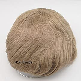 Blonde All Lace Toupee for Men Blonde Human Hair Piece Base Size Cutable