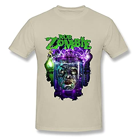 Men's Rob Zombie Poster Short Sleeve Tees Size XL Natural (Educated Horses Vinyl)