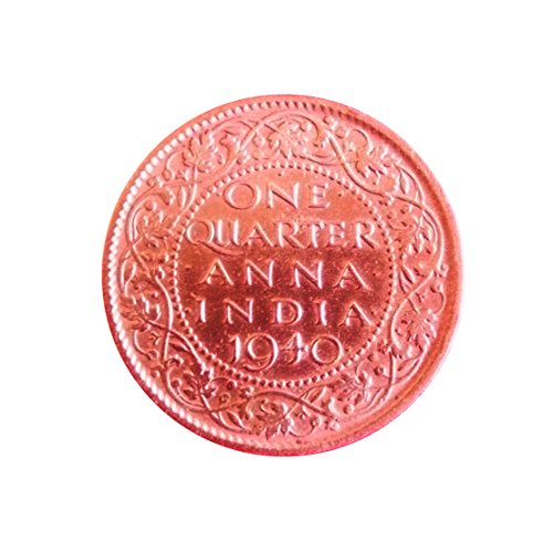 Very Old Indian 1940 Year One Quarter Anna Coin