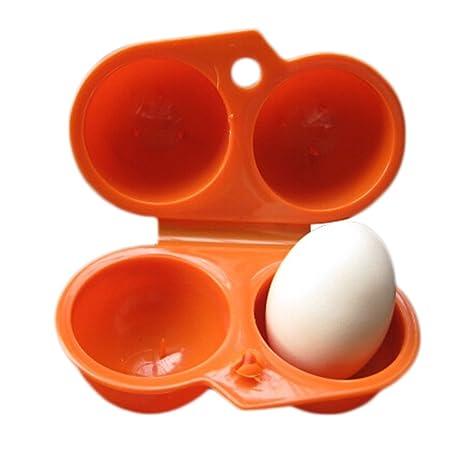 Da.Wa Almacenaje Portable del Huevo, 2 Huevos, Caja Plástica para ...