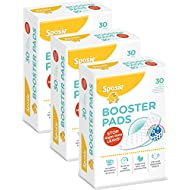 Sposie Booster Pads Diaper Doubler, 90 Count, 3 Packs of 30 Pads (No Adhesive for Easy repositioning)