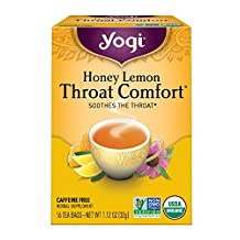 Yogi Teas Throat Comfort Honey Lemon, 16 Count (Pack of 6)