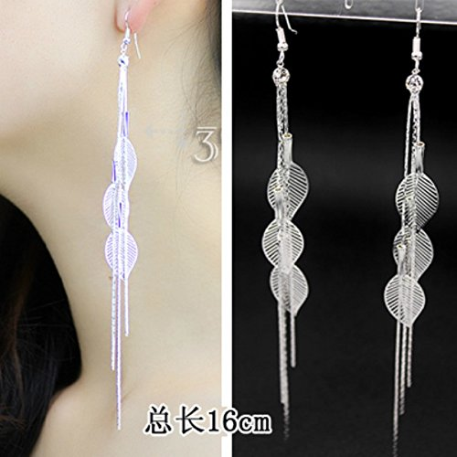 Price comparison product image Generic new_Korean_water_drilling ear fall_ fashion _accessories,_long_stream exaggerated_ earrings Earring eardrop _temperament_bridal ear jewelry