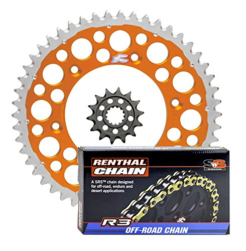 2014 O-ring Chain - Renthal Ultralight Front & Twinring Rear Sprockets & R3 O-Ring Chain Kit - 14/50 ORANGE - compatible with 2009-2014 Husaberg, 2014-on 125-501 Husqvarna, 1999-on 125-530 KTM