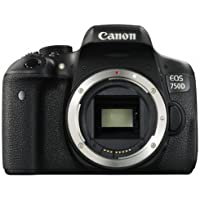 "Canon EOS 750D Body - Cámara réflex digital de 24.2 Mp (pantalla 3"", estabilizador óptico, grabación de vídeo Full HD, DIGIC 6), color negro (importado)"
