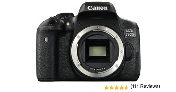 Canon EOS 750D Body - Cámara réflex digital de 24.2 Mp (pantalla 3 ...