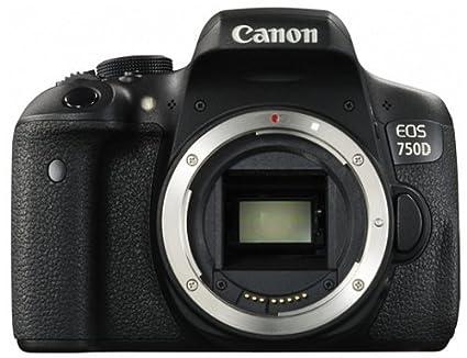 Canon EOS 750D SLR-Digitalkamera (24 Megapixel, APS-C CMOS-Sensor, WiFi, NFC, Full-HD) schwarz