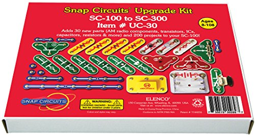 Snap Circuits UC-30 Electronics Exploration Upgrade Kit | SC-100 to SC-300 | Upgrade Junior to Classic -