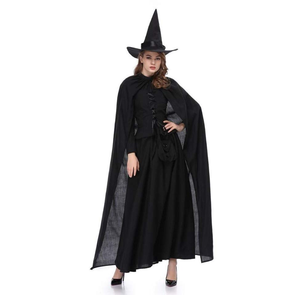 Yunfeng Hexenkostüm Damen Halloween Kostüm Erwachsene Hexe Kostüm Masquerade Hexe Kostüm Hexenkleid