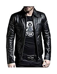 Laverapelle Men's Black Genuine Lambskin Leather Jacket - 1510200