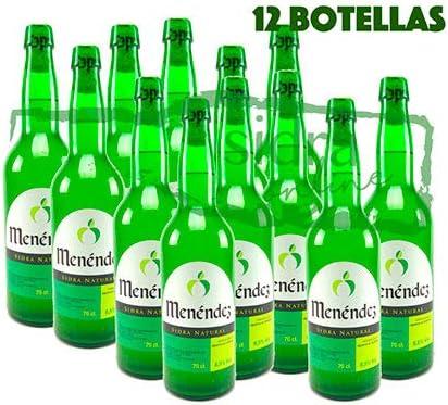 Caja de 12 botellas de sidra de Asturias Menéndez: Amazon.es ...