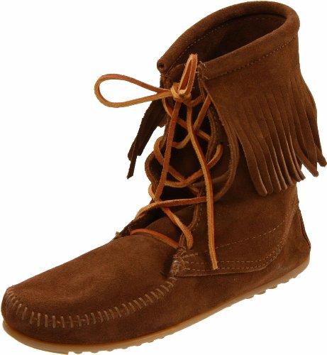 Minnetonka Women's Tramper Ankle Hi Boot,Dusty Brown,10 M US